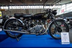 Motorcykel Vincent Rapide B, 1949 Arkivfoto