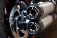 Motorcykelavgasrör Arkivbilder