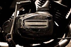 Motorcykelbensin tankade motorn arkivfoto