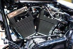 Motorcykelbensin tankade motorn arkivbild