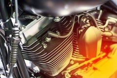 Motorcykelbensin tankade motorn Royaltyfria Bilder