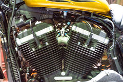 Motorcykelbensin tankade motorn royaltyfria foton