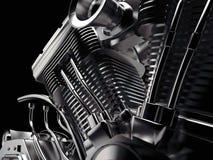 Motorcykelbensin tankade motorn Royaltyfri Fotografi