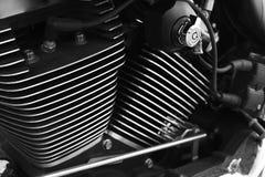Motorcykelbensin tankade motorn Royaltyfri Foto