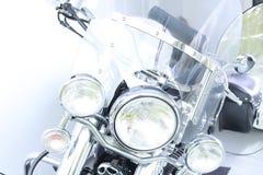 Motorcykelbillyktor windshield Arkivfoto