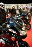 Motorcykelcortege Arkivfoto