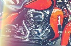 Motorcykeldetaljer på gatan Arkivfoton