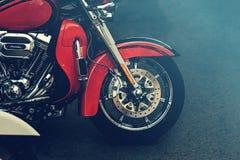 Motorcykeldetaljer på gatan Royaltyfri Fotografi