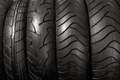 motorcykelgummihjul Fotografering för Bildbyråer