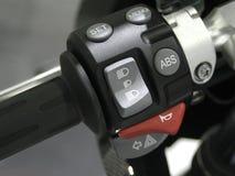 Motorcykelhandtag Fotografering för Bildbyråer