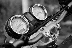 Motorcykelhastighetsklocka royaltyfri bild