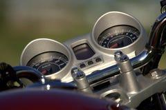 Motorcykelhastighetsmätare Fotografering för Bildbyråer