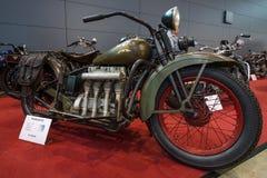 MotorcykelHenderson KJ ` rationaliserar `, 1931 Arkivbilder