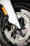 Motorcykelhjul Fotografering för Bildbyråer
