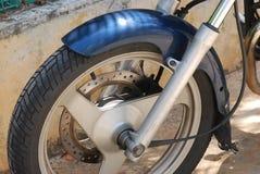 Motorcykelhjul Arkivbild
