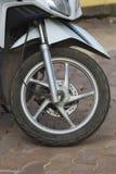 Motorcykelhjul Arkivfoto