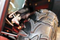 Motorcykelhjuldäck Arkivbild