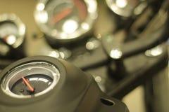 Motorcykelinstrumentpanel Fotografering för Bildbyråer