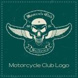 Motorcykelklubbalogo stock illustrationer