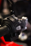 Motorcykelkontrollbordströmbrytare Arkivbild