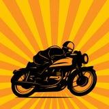 Motorcykelloppbakgrund Arkivbilder