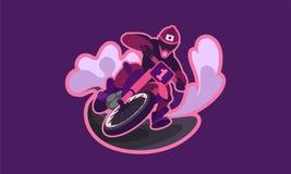 Motorcykelmotocrossbegrepp royaltyfri illustrationer