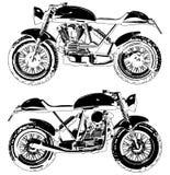 Motorcykelmotocrossvektor Royaltyfria Bilder