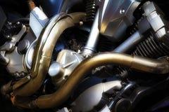 Motorcykelmotor royaltyfri bild