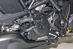 Motorcykelmotor, detalj av motorcykelmotorn Royaltyfri Fotografi