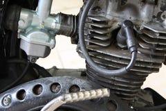 Motorcykelmotor i rost Arkivbild