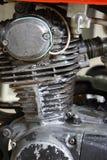 Motorcykelmotor i rost Royaltyfri Foto