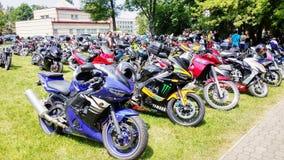 Motorcykelmotorcykelsportar Royaltyfri Fotografi