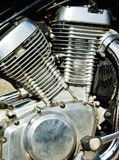 motorcykelmotorer Arkivbild