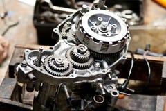 Motorcykelmotorreparation Royaltyfria Foton