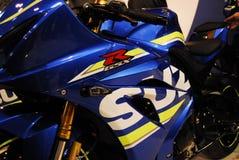 Motorcykeln bor Arkivbild