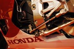 Motorcykeln bor Arkivfoto