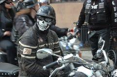 motorcykeln poland samlar wroclawen Arkivfoton