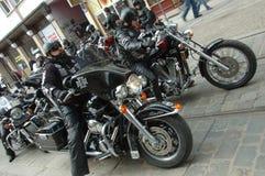 motorcykeln poland samlar wroclawen Arkivfoto
