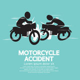 Motorcykelolycka Arkivbild