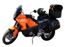 motorcykelorange Royaltyfri Fotografi