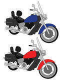motorcykelparvektor Arkivbild