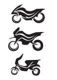 Motorcykelpictogrammkontur 1 Stock Illustrationer