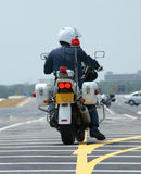 motorcykelpolis Royaltyfria Bilder