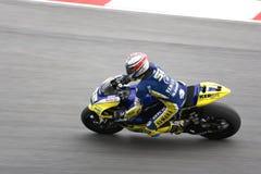 Motorcykelracer på spår Arkivfoton