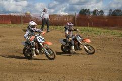 Motorcykelraces Royaltyfria Bilder