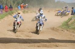Motorcykelraces Royaltyfri Foto