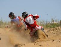 motorcykelraces Royaltyfri Fotografi
