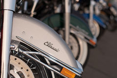 motorcykelrad Royaltyfri Fotografi