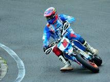 Motorcykelridningperiod på WallraV loppmitt Arkivfoto