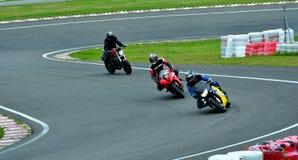 Motorcykelridningperiod på WallraV loppmitt Arkivbilder